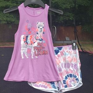 Girl's shorts & tank set